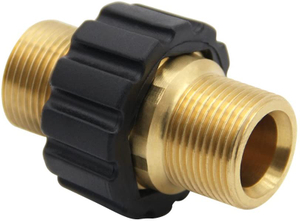 Pressure Washer Hose Quick Connector, M22 Metric Male Thread Fitting, TWIS375